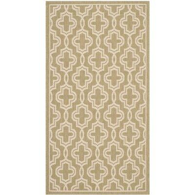 Martha Stewart Green/Beige Area Rug Rug Size: Rectangle 4 x 57
