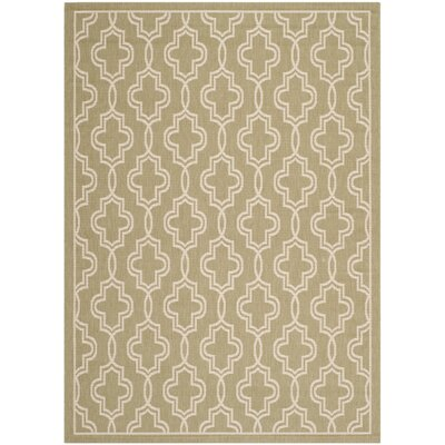 Martha Stewart Green/Beige Area Rug Rug Size: Rectangle 53 x 77