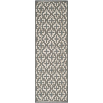 Martha Stewart Anthracite/Beige Area Rug Rug Size: Rectangle 27 x 5