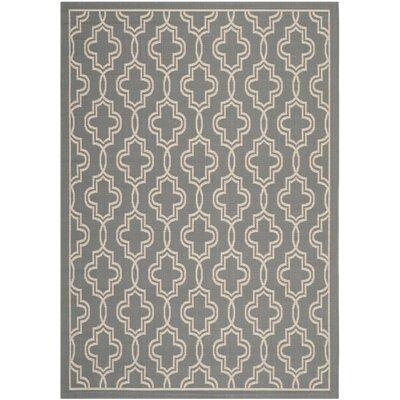 Martha Stewart Anthracite/Beige Area Rug Rug Size: 53 x 77