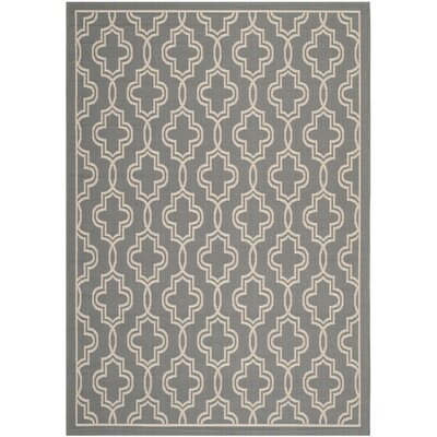 Martha Stewart Anthracite/Beige Area Rug Rug Size: Rectangle 4 x 57