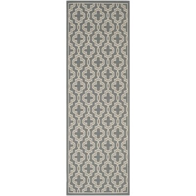 Martha Stewart Anthracite/Beige Area Rug Rug Size: Rectangle 67 x 96