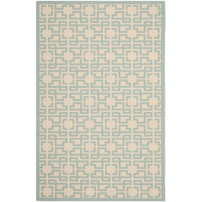 Martha Stewart Teal Area Rug Rug Size: Rectangle 2'7