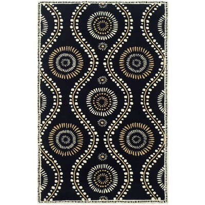Martha Stewart Tufted / Hand Loomed Black Area Rug Rug Size: 5' x 8'