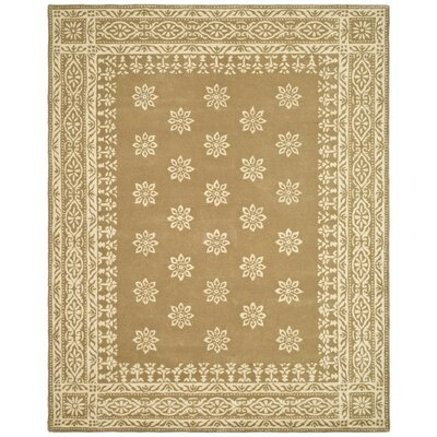 Martha Stewart Gracious Garden Hand Loomed Gold Area Rug Rug Size: Rectangle 5 x 8