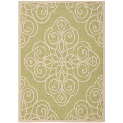 Martha Srewart Rosamond Green/Beige Area Rug Rug Size: Rectangle 4 x 57
