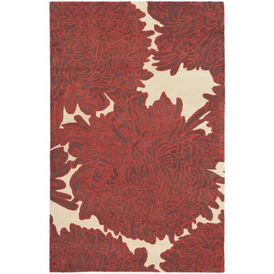 Martha Stewart Chrysanthemum Tufted / Hand Loomed Area Rug Rug Size: 9 x 12