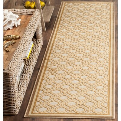 Martha Stewart Tufted / Hand Loomed Shortbread Area Rug Rug Size: Runner 22 x 6