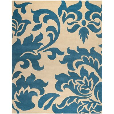 Martha Stewart Barcelona Tufted / Hand Loomed Blue/Beige Area Rug Rug Size: Rectangle 9 x 12