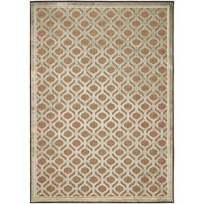 Martha Stewart Tufted / Hand Loomed Brown/Green Area Rug Rug Size: 67 x 92