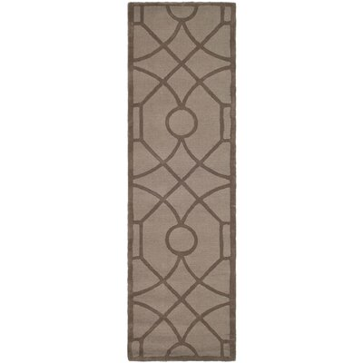 Martha Stewart Fretwork Tufted / Hand Loomed Area Rug Rug Size: Runner 23 x 8