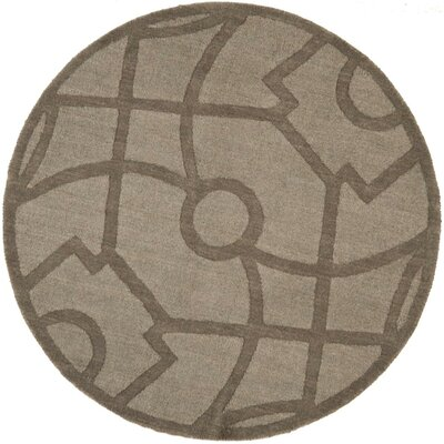Martha Stewart Fretwork Tufted / Hand Loomed Area Rug Rug Size: Round 4