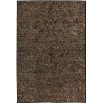 Martha Stewart Heritage Bloom Brown Area Rug Rug Size: 53 x 76