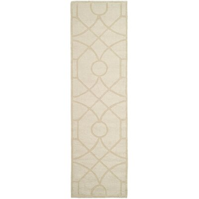 Martha Stewart Fretwork Hand Loomed Beige Area Rug Rug Size: Rectangle 3 x 5