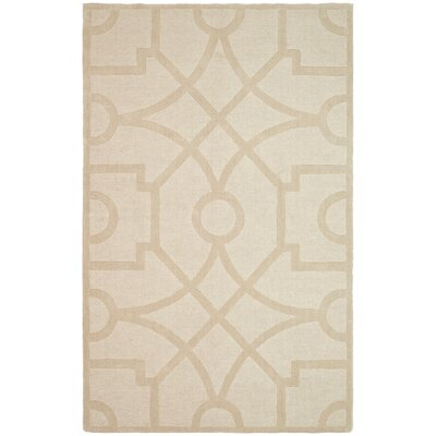 Martha Stewart Fretwork Hand Loomed Beige Area Rug Rug Size: Rectangle 9 x 12