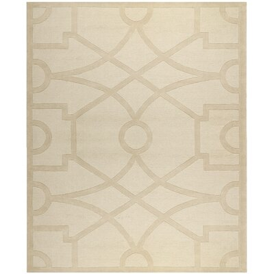 Martha Stewart Fretwork Hand Loomed Beige Area Rug Rug Size: Rectangle 8 x 10