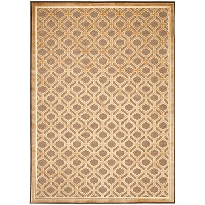 Martha Stewart Tufted / Hand Loomed Tan/Brown Area Rug Rug Size: 67 x 92