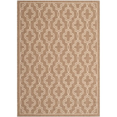 Martha Stewart Brown/Beige Area Rug Rug Size: 53 x 77