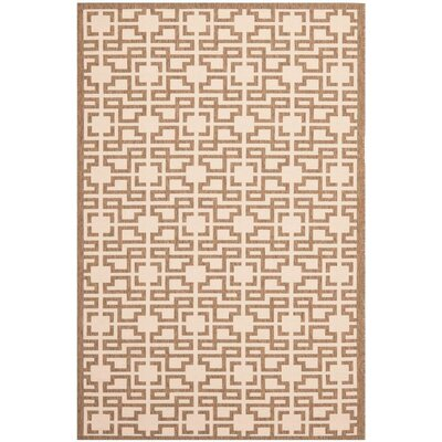 Martha Stewart Brown/Beige Area Rug Rug Size: Rectangle 4 x 57