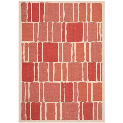 Martha Stewart Blocks Red Area Rug Rug Size: Rectangle 67 x 96