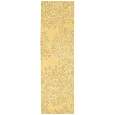 Martha Stewart Chrysanthemum Tufted / Hand Loomed Area Rug Rug Size: Runner 23 x 8