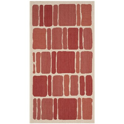 Martha Stewart Blocks Red Area Rug Rug Size: Rectangle 27 x 5
