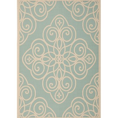 Martha Stewart Blue/Beige Area Rug Rug Size: Rectangle 4 X 5-7