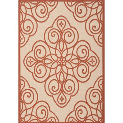 Martha Stewart Red/Beige Area Rug