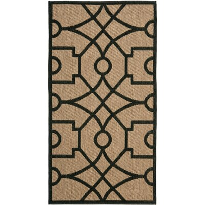 Martha Stewart Fretwork Tan/Black Area Rug Rug Size: Rectangle 8 x 112