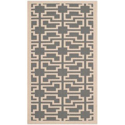 Martha Stewart Anthracite/Beige Area Rug Rug Size: Rectangle 27 x 5