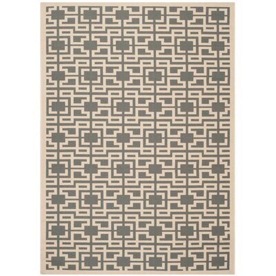 Martha Stewart Anthracite/Beige Area Rug Rug Size: Rectangle 4 x 57
