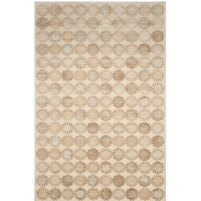Martha Stewart Stone/Cream Area Rug Rug Size: Rectangle 33 x 53