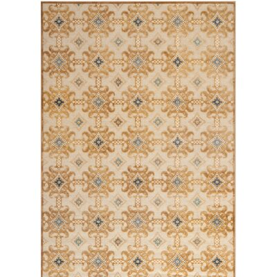 Martha Stewart Taupe/Cream Area Rug Rug Size: Rectangle 51 x 76
