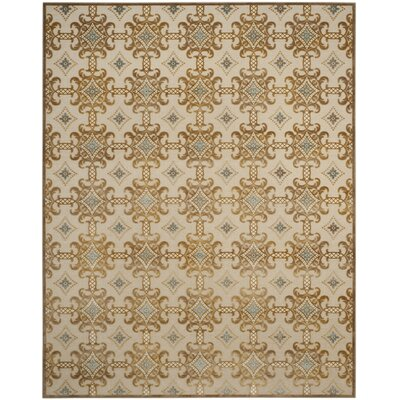 Martha Stewart Taupe/Cream Area Rug Rug Size: Rectangle 8 x 10
