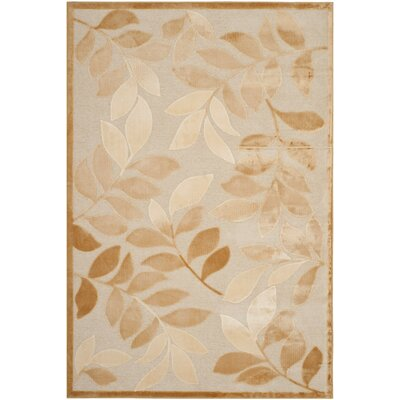 Martha Stewart Leafy Glade Heavy Cream Area Rug Rug Size: Rectangle 27 x 4