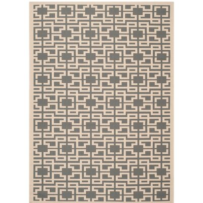 Martha Stewart Anthracite/Beige Area Rug Rug Size: Rectangle 26 x 82