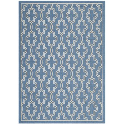 Martha Stewart Beige/Blue Area Rug Rug Size: Rectangle 27 x 5
