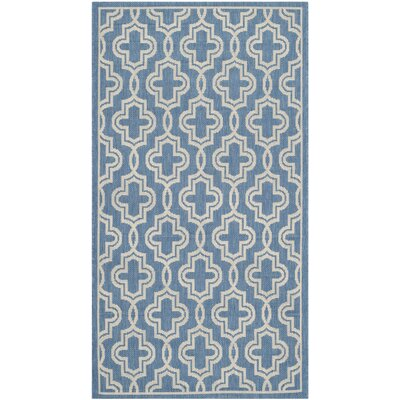 Martha Stewart Beige/Blue Area Rug Rug Size: Rectangle 4 x 57