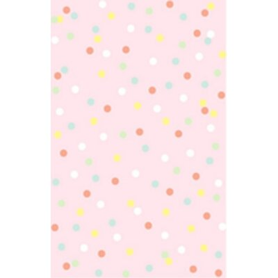 Martha Stewart Confetti Dot Hand-Tufted Carnation Area Rug Rug Size: Rectangle 5 x 8