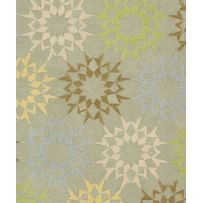 Floral Block Quilt Opal Grey Rug Rug Size: Rectangle 26 x 43