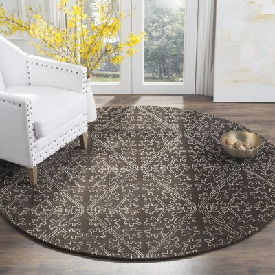 Martha Stewart Coffee / Brown Area Rug Rug Size: 56 x 86