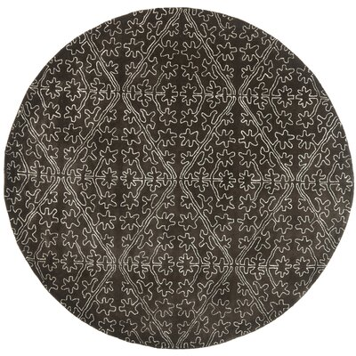 Martha Stewart Coffee / Brown Area Rug Rug Size: Round 6