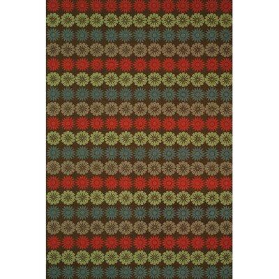 Floral Solar Garden Mulberry Contemporary Rug Rug Size: Rectangle 56 x 86