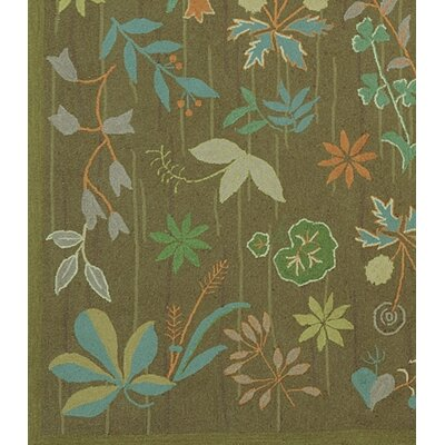 Grove Twig Green Floral Area Rug Rug Size: Runner 23 x 10