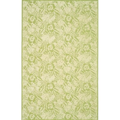 Floral Fleur Discont Bud Contemporary Rug Rug Size: Rectangle 96 x 136
