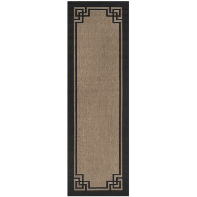 Deco Frame Dark Beige / Black Area Rug Rug Size: Rectangle 27 x 5