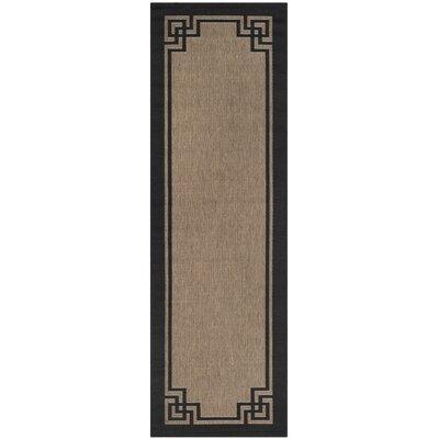 Deco Frame Dark Beige / Black Area Rug Rug Size: Runner 27 x 82