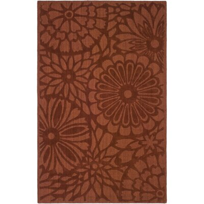 Full Bloom Hand-Loomed Vermillon Area Rug Rug Size: 3 x 5