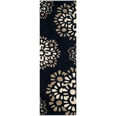 Martha Stewart Hand-Tufted Black Area Rug Rug Size: Runner 23 x 8