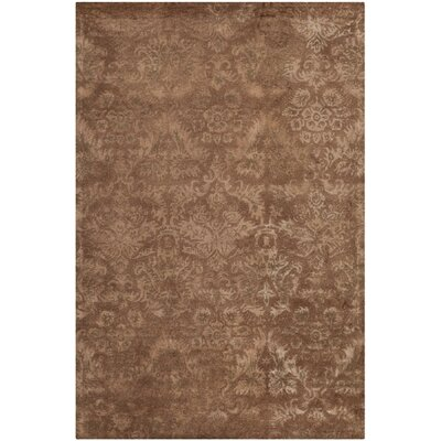 Damask Mahogany Rug Rug Size: Rectangle 86 x 116